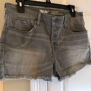 Mossimo gray jean shorts
